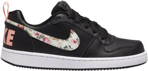 Mal Vigilante circuito  Nike Court Borough Low Perforated Leather Floral Side Logo Rubber-Sole  Lace-up Sneakers for Girls - Black & Pale Ivory, 38 : Buy Online Athletic  Shoes at Best Prices in Egypt | Souq.com