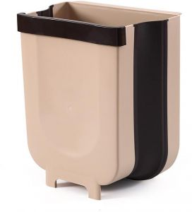 Hanging Trash Can For Kitchen Cabinet Door Collapsible Trash Bin Small Compact Garbage Can Attached To Cabinet Door Kitchen Drawer Bedroom Dorm Room Car Waste Bin Buy Online Storage Organization