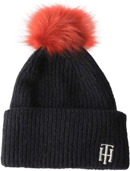 TOMMY HILFIGER Winter Hat Beanie* Gray Multicolor One Size NWT