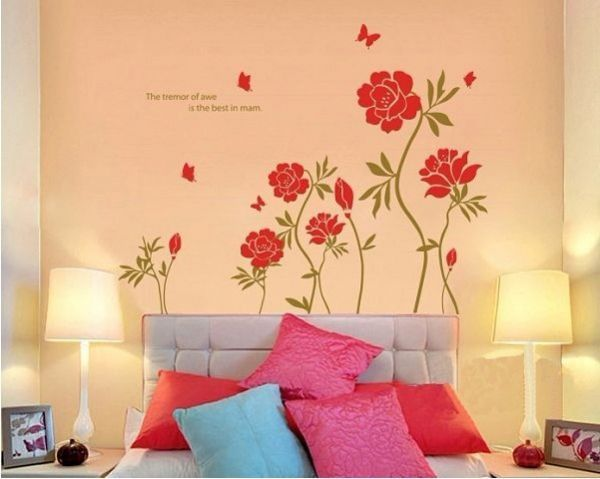 Souq   Miihome Removable Wall Decor Sticker - Red Flower   UAE